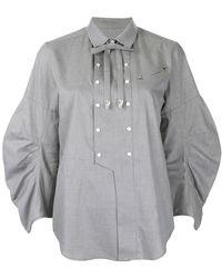 Toga Pulla   Embellished Bib Shirt   Lyst