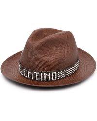 Valentino Соломенная Шляпа С Логотипом - Коричневый