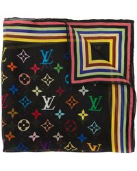 Louis Vuitton Прозрачный Платок С Монограммой - Черный