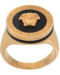 Versace Кольцо-печатка Medusa С Эмалью - Многоцветный