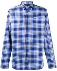 Philipp Plein Рубашка С Длинными Рукавами И Логотипом - Синий