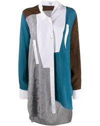 Loewe Deconstructed Asymmetric Shirt - Blue