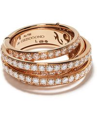 De Grisogono Кольцо Из Розового Золота С Бриллиантами - Металлик