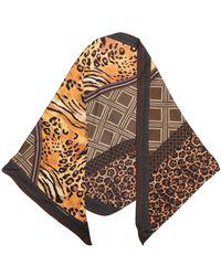 Pierre Louis Mascia Leopard-print Silk Scarf - Brown