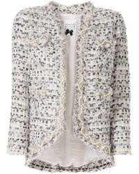 Edward Achour Paris Blazer crop en tweed à ornements - Multicolore