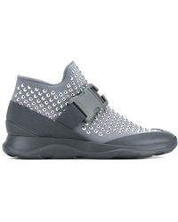 Christopher Kane Hotfix High-top Sneakers - Gray