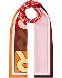 Burberry Sjaal Met Logoprint - Roze