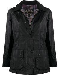 Barbour Beadnell ワックスジャケット - ブラック