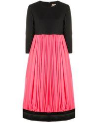 Comme des Garçons Pleated Contrast Dress - Pink