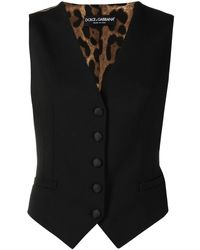 Dolce & Gabbana レオパード ベスト - ブラック