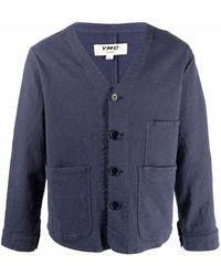 YMC ボタン ジャケット - ブルー