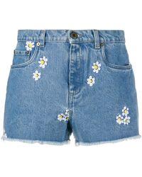 Miu Miu Denim Shorts - Blauw