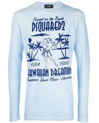 DSquared² - Langarmshirt mit Hawaii-Print - Lyst