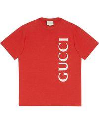 Gucci Футболка С Логотипом - Красный