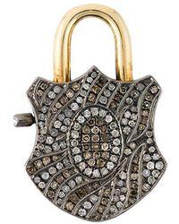 Gemco - Diamond Padlock Pendant - Lyst