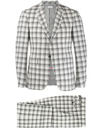 Thom Browne Tattersall Check Suit - Grey