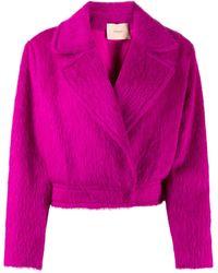 Twin Set Куртка Из Искусственного Меха - Розовый