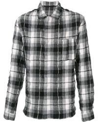 Haider Ackermann - Creased Effect Plaid Shirt - Lyst