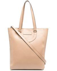 Societe Anonyme Leather Appliqué Detail Tote Bag - Natural