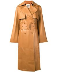 Roberto Cavalli - Silk-lined Trench With Fringe - Lyst