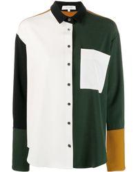 Chinti & Parker カラーブロック シャツ - ホワイト