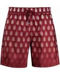 Billionaire Logo-print Drawstring Swim Shorts - Red