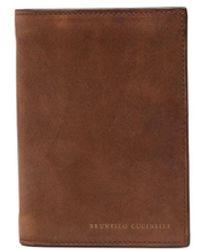 Brunello Cucinelli Billfold Leather Wallet - Brown