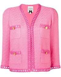 Edward Achour Paris - Cropped Tweed Jacket - Lyst