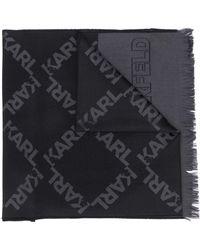 Karl Lagerfeld ロゴ スカーフ - ブラック