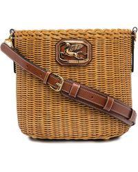Etro ウィッカー バケットバッグ - マルチカラー