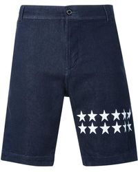 Guild Prime - - Star Print Denim Shorts - Men - Cotton/polyurethane - 2 - Lyst