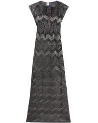 M Missoni ジグザグパターン ドレス - ブラック