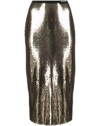 RED Valentino スパンコール ペンシルスカート - メタリック