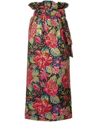 Manish Arora Floral Print Midi Skirt - Multicolour