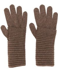 Blanca Vita Knitted Cashmere Gloves - Brown