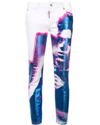 DSquared² - Printed Skinny Jeans - Lyst