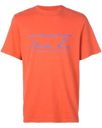 Martine Rose Logo Print T-shirt - Orange