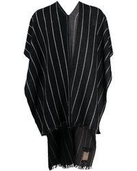 Ziggy Chen ケープ ロングスカーフ - ブラック