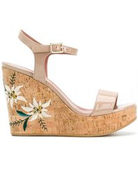 Bally Caelie Embroidered Wedge Sandals - Multicolour