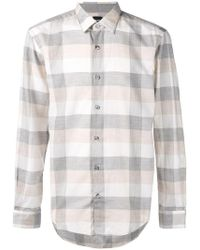 BOSS - Checked Longsleeve Shirt - Lyst