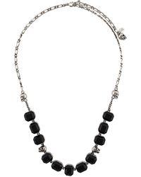Alexander McQueen Collar con apliques de gemas - Multicolor