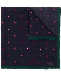Lardini Pochet Met Bloemenprint - Blauw