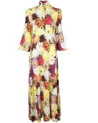 Ellery Robe longue à fleurs - Multicolore