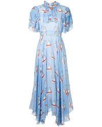 Macgraw - Swan Print Dress - Lyst
