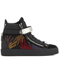 Giuseppe Zanotti Coby crystal-embellished sneakers - Schwarz