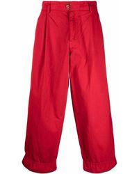 Kolor Wide-leg Cropped Pants - Red