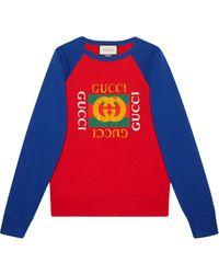 Gucci グッチ ロゴ スウェットシャツ - レッド