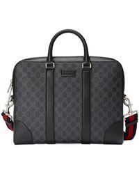 Gucci - Gg Supreme Briefcase - Lyst