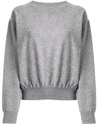Coohem Knitted Crew Neck Sweater - Gray