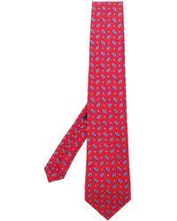 Etro Krawatte mit Paisley-Muster - Rot